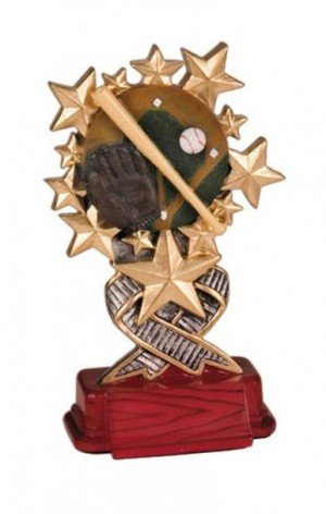 Baseball Starburst Resin Trophy