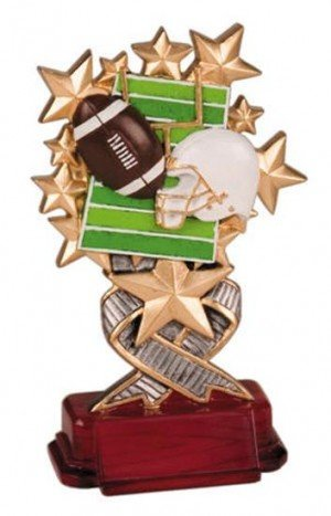 Football Starburst Resin Trophy
