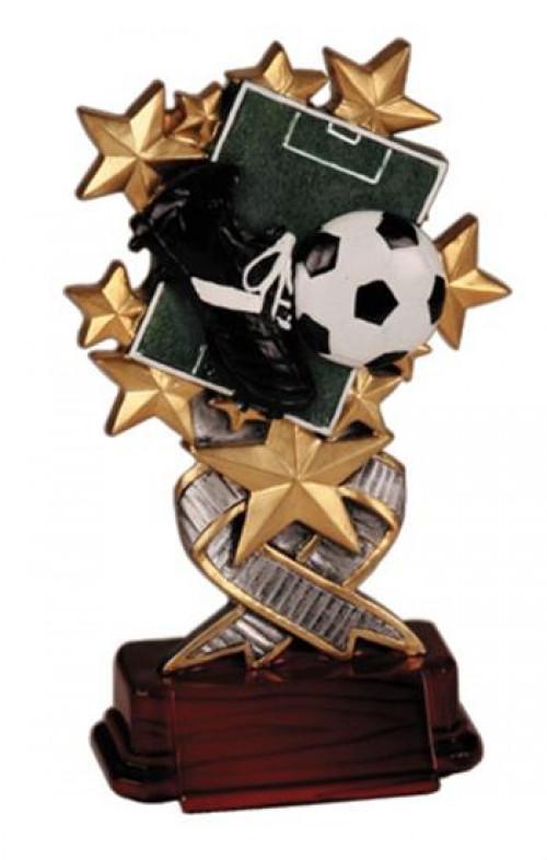 Soccer Starburst Resin Trophy