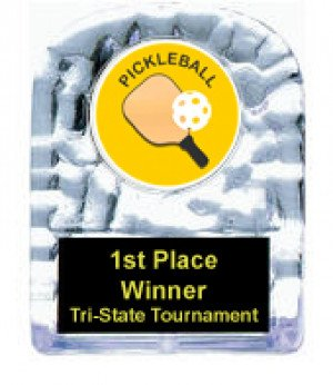 Pickleball Cracked Ice Trophy