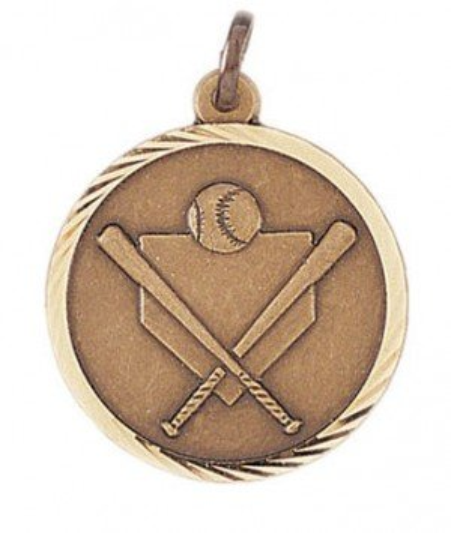 Baseball Sunray Medal