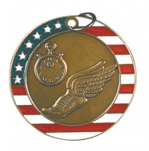 Track Red White and Blue Medal