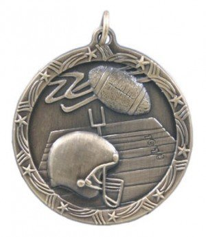 Football Star Medal 2 3/4 Inch