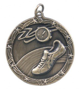 Track Star Medal 2 3/4 Inches