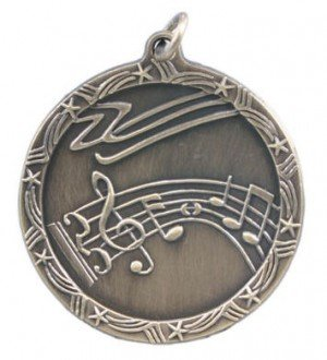 Music Star Medal 2 3/4 Inches