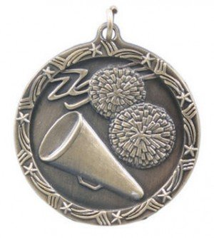 Cheerleading Star Medal 2 3/4 Inches
