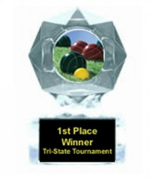 Bocce Ball Clear Star Award