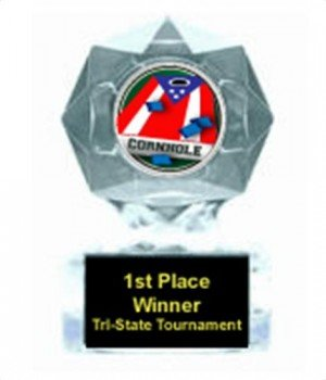 Corn Hole Clear Star Trophy