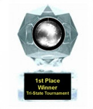 Disco Ball Clear Star Award