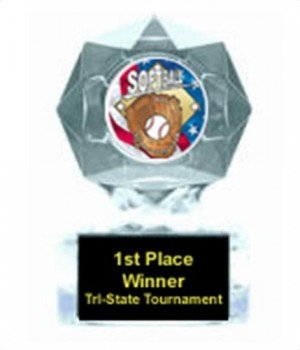 Softball Clear Star Trophy
