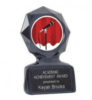Black Star Karaoke Trophy