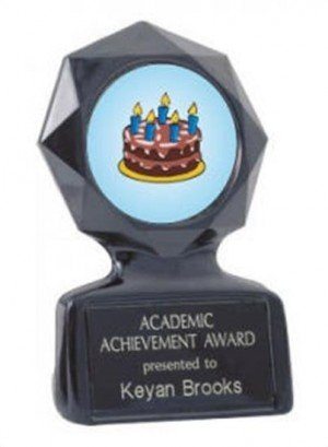 Black Star Cake Decorating Trophy