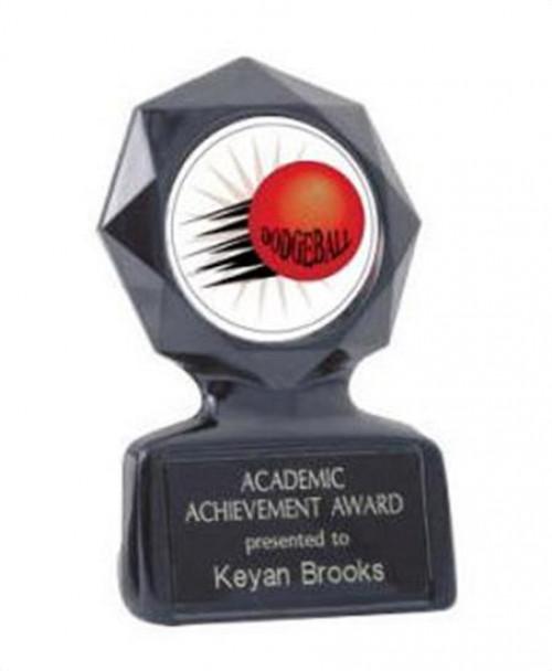 Black Star Dodgeball Trophy