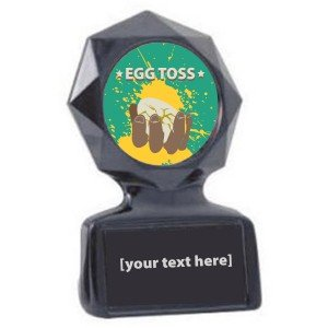 Egg Toss Black Star Trophy