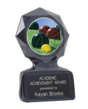 Bocce Ball Black Star  Trophy