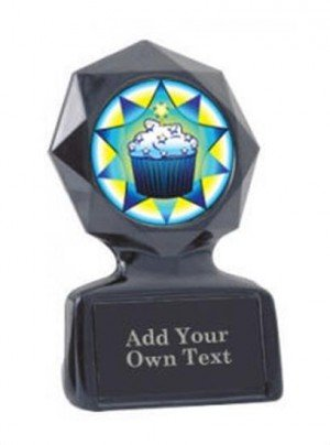 Black Star Cupcake Trophy