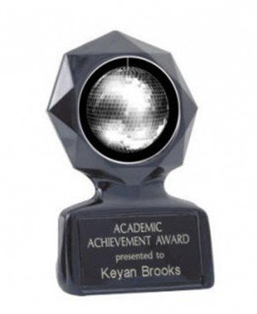 Disco Ball Black Star Trophy