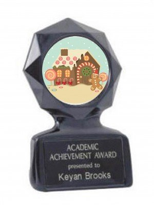 GingerBread House Black Star Trophy