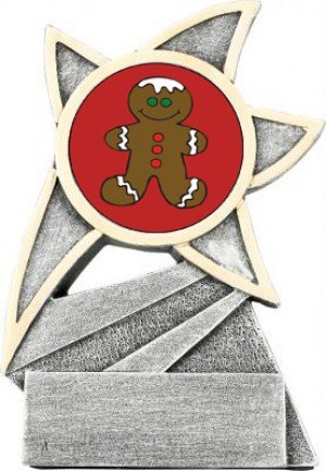 Gingerbread Man Jazz Star Trophy