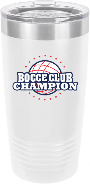 Customized Bocce Ball Tournament Polar Camel 20 oz.  Ringneck Vacuum Insulated Tumbler w/Clear Lid LTM7214