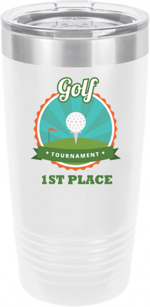 Customized Golf Tournament Polar Camel 20 oz.  Ringneck Vacuum Insulated Tumbler w/Clear Lid LTM7214