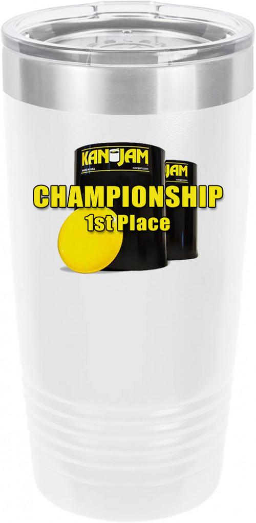 Customized Kanjam Tournament Polar Camel 20 oz.  Ringneck Vacuum Insulated Tumbler w/Clear Lid LTM7214