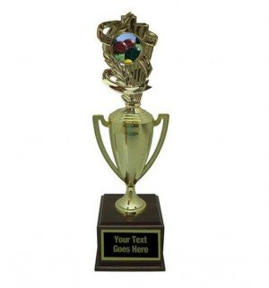 Bocce Ball Gold Cup Trophy