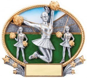Cheerleading Trophy Small 3D Oval