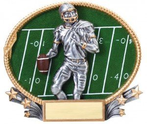 Football Trophy Small 3D Oval