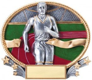 Male Track Trophy Small 3D Oval