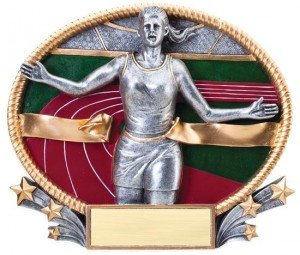 Female Track Trophy Small 3D Oval