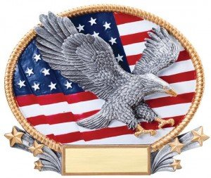 Patriotic Eagle Oval 3D Trophy