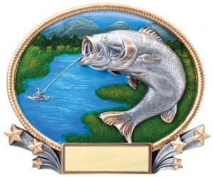 Fishing 3D Oval Trophy