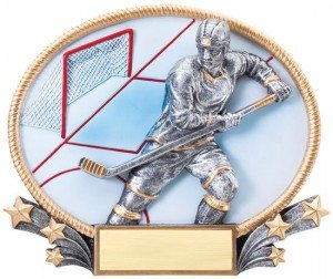 Hockey 3D Oval Trophy
