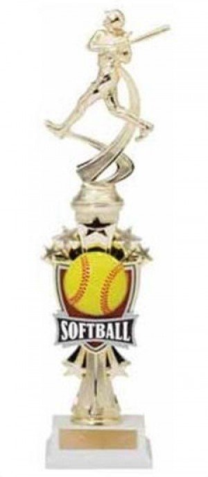 Softball Shooting Star Riser Trophy