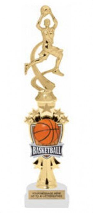 Basketball Female Shooting Star Riser Trophy