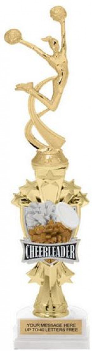 Cheerleader Shooting Star Riser Trophy
