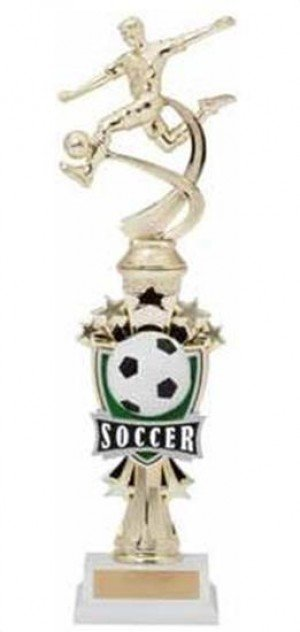 Soccer Male Shooting Star Riser Trophy