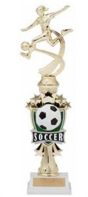 Soccer Female Shooting Star Riser Trophy