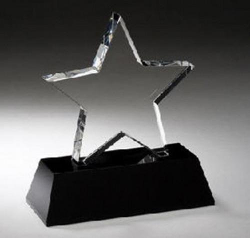 Black Pedestal Crystal Star Award