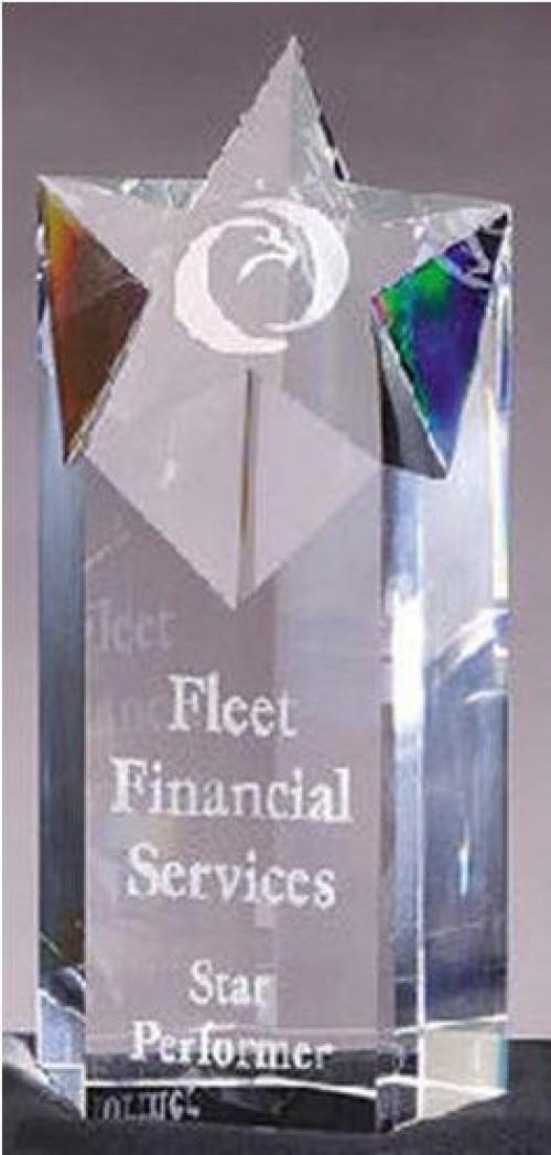 Crystal Star Tower Award 9 Inch