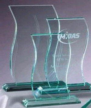 Wavy Jade Glass Award