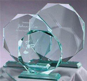 Octagon Jade Glass Award