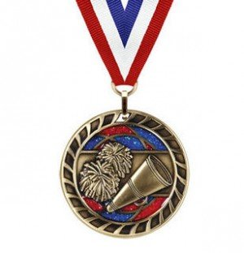 Cheerleading Glitter Medal