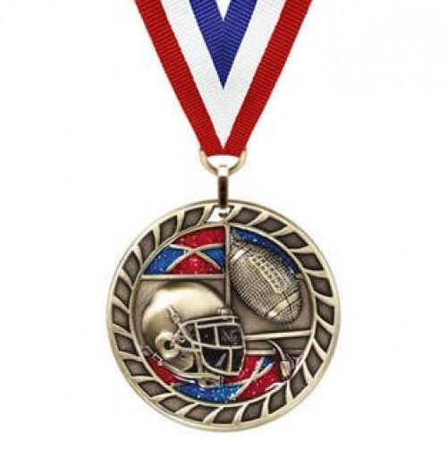 Football Glitter Medal