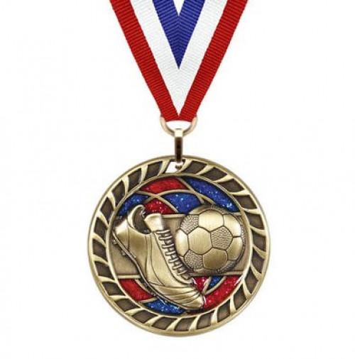 Soccer Glitter Medal