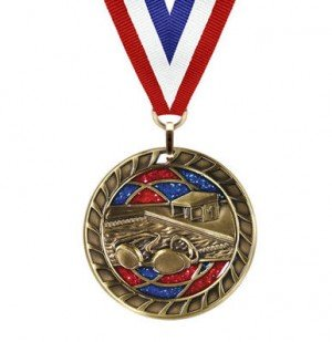 Swimming Glitter Medal