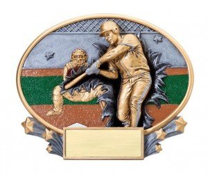 Baseball Explosion Oval Trophy
