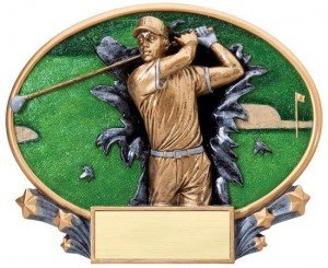 Golf Explosion Oval Trophy