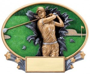 Female Golf Explosion Oval Trophy